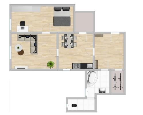 Pronájem bytu 2+1, 85 m2, Železná ulice, Liberec